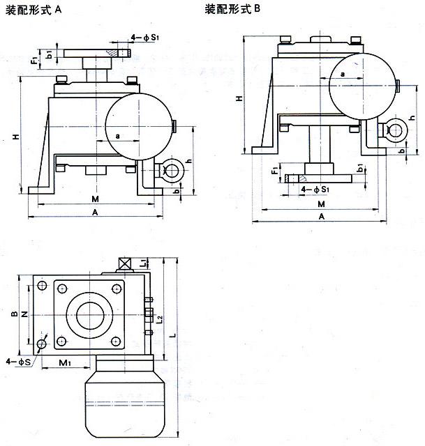 WJ蜗轮丝杆升降机装配示意图